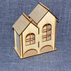 Чайный домик с двумя отделениями с окошками