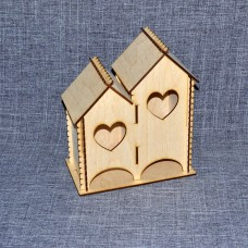 Чайный домик с двумя отделениями с сердечками