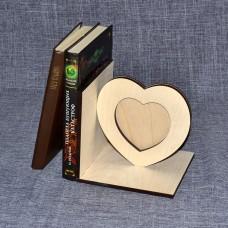 Упора для книг с фотормакой в виде сердечка