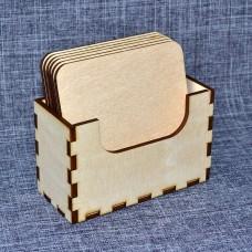 Набор квадратных подставок под горячее с вертикальной коробочкой