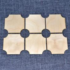 Набор подставок под горячее в виде резных квадратиков
