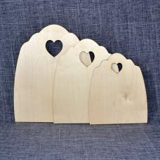 Набор разделочный досочек с сердечком